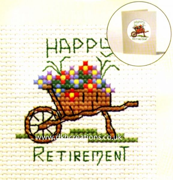 Happy Retirement Card Cross Stitch Kit